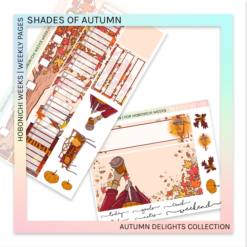 HOBONICHI WEEKS | WEEKLY PAGES | Shades of Autumn