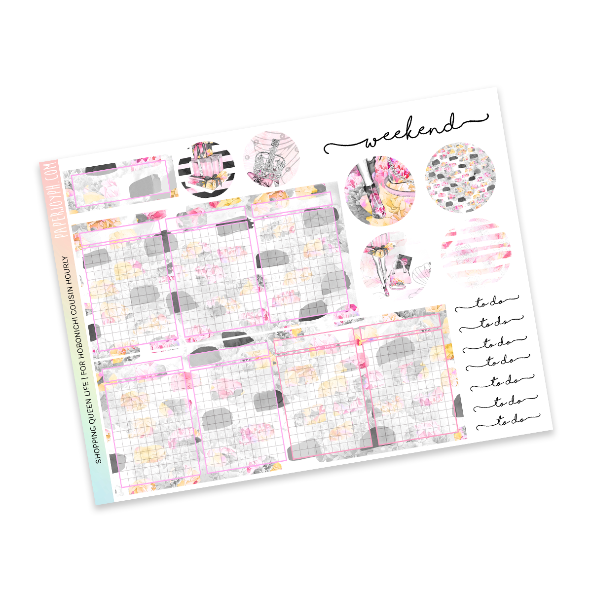 HOBONICHI COUSIN | HOURLY STICKER KIT | Shopping Queen