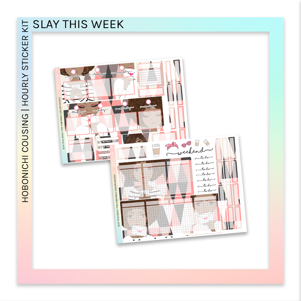 HOBONICHI COUSIN | HOURLY STICKER KIT | Slay This Week