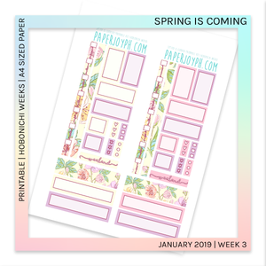 PRINTABLE | HOBONICHI WEEKS | Spring is Coming A4 size paper