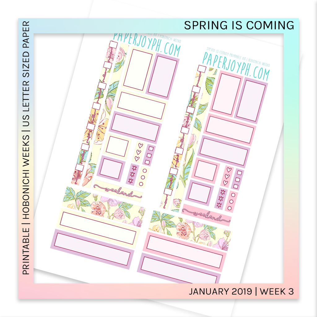 PRINTABLE | HOBONICHI WEEKS | Spring is Coming U.S. LETTER size paper