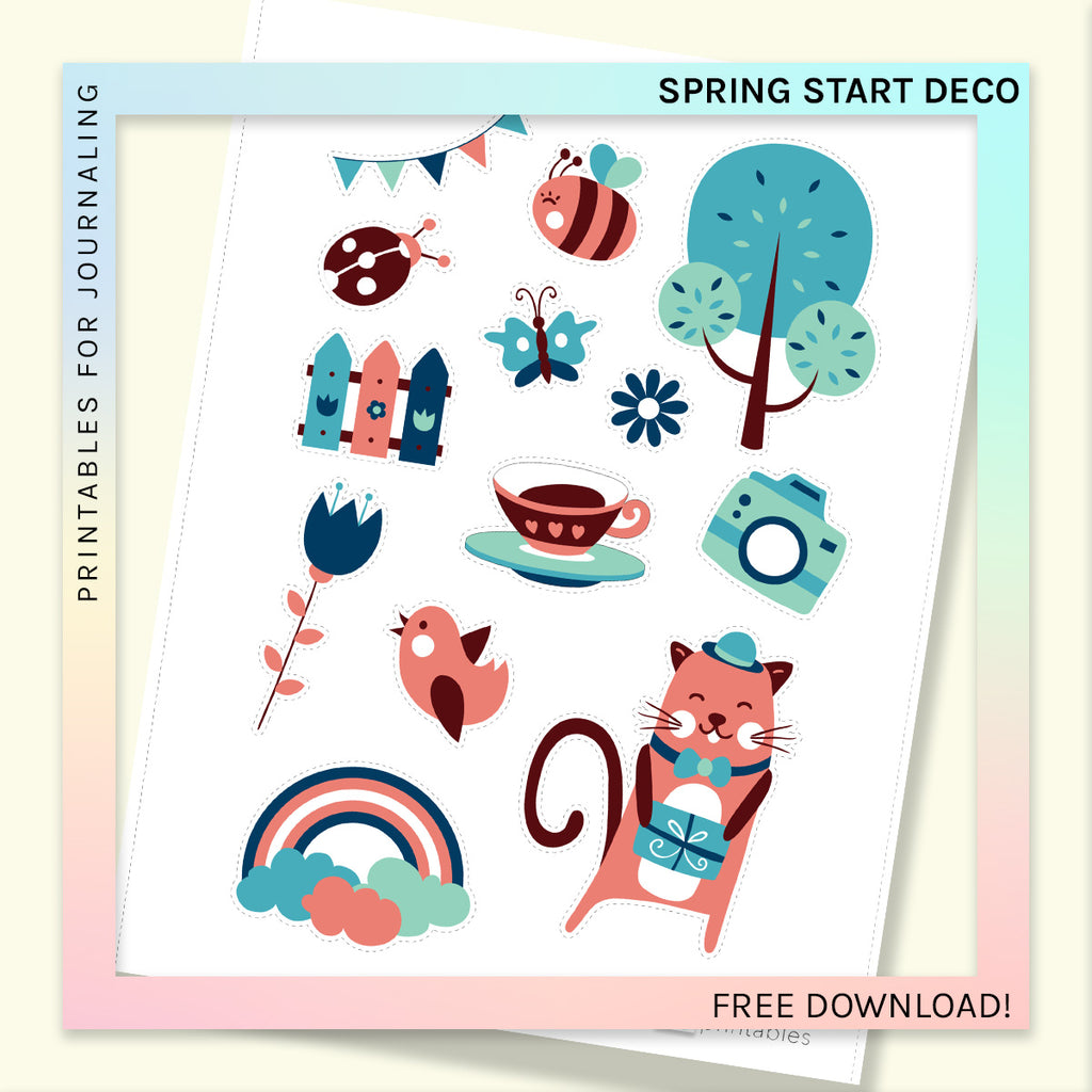 FREE PRINTABLE | DECORATIVE SHEET | Spring Start