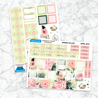 Hobonichi Cousin Sticker Kit | SPRING TO LIFE