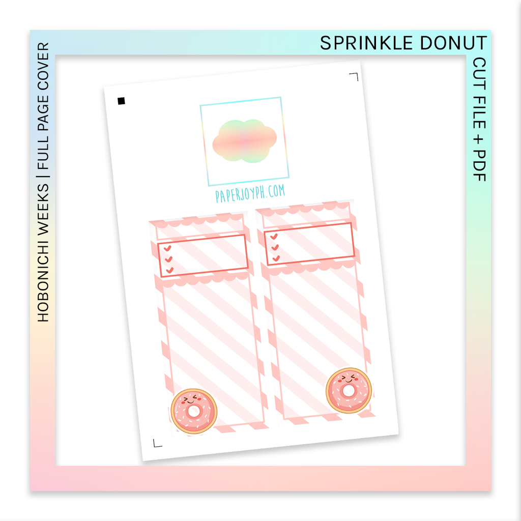 PRINTABLE | HOBONICHI WEEKS FULL PAGE STICKERS | Sprinkle Donut