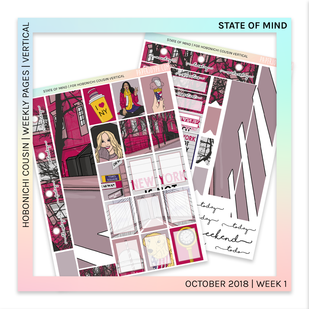 HOBONICHI COUSIN | VERTICAL STICKER KIT | State of Mind