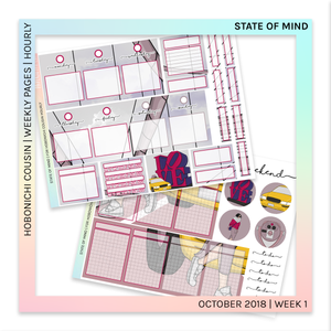 HOBONICHI COUSIN | HOURLY STICKER KIT | State of Mind