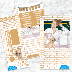 Personal Planner Vertical Sticker Kit | Stay In