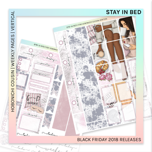 HOBONICHI COUSIN | VERTICAL STICKER KIT | Stay in Bed