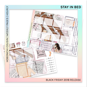 HOBONICHI COUSIN | HOURLY STICKER KIT | Stay In Bed