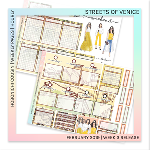HOBONICHI COUSIN | HOURLY STICKER KIT | Streets of Venice