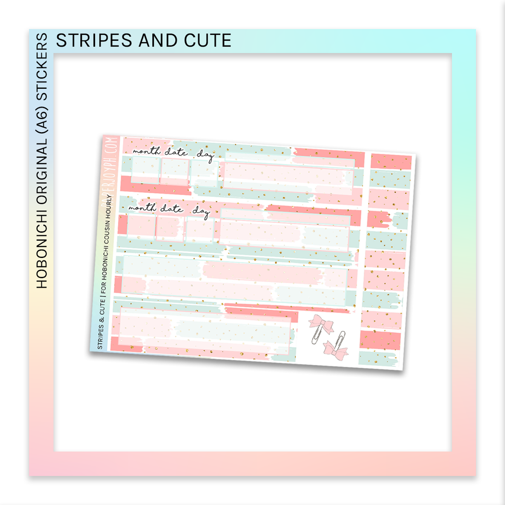 HOBONICHI ORIGINAL (A6) | Stripes & Cute