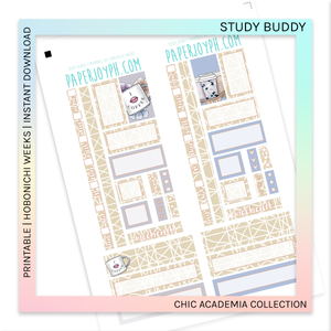 PRINTABLE | HOBONICHI WEEKS | Study Buddy