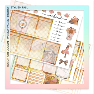 HOBONICHI COUSIN | HOURLY STICKER KIT | Stylish Fall