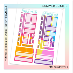 PRINTABLE | HOBONICHI WEEKS | Summer Brights