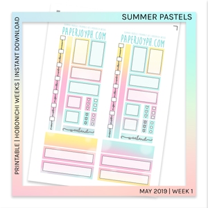 PRINTABLE | HOBONICHI WEEKS | Summer Pastels