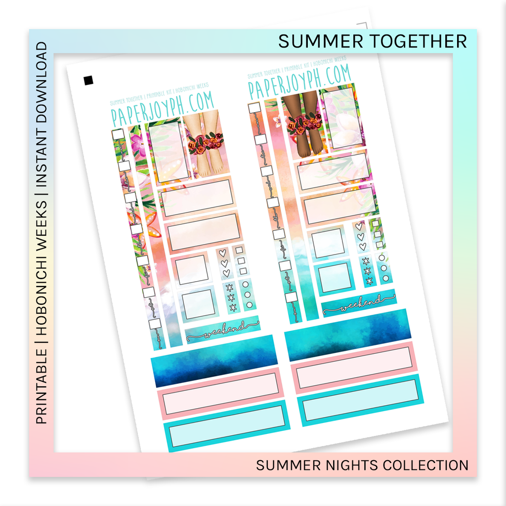 PRINTABLE | HOBONICHI WEEKS | Summer Together