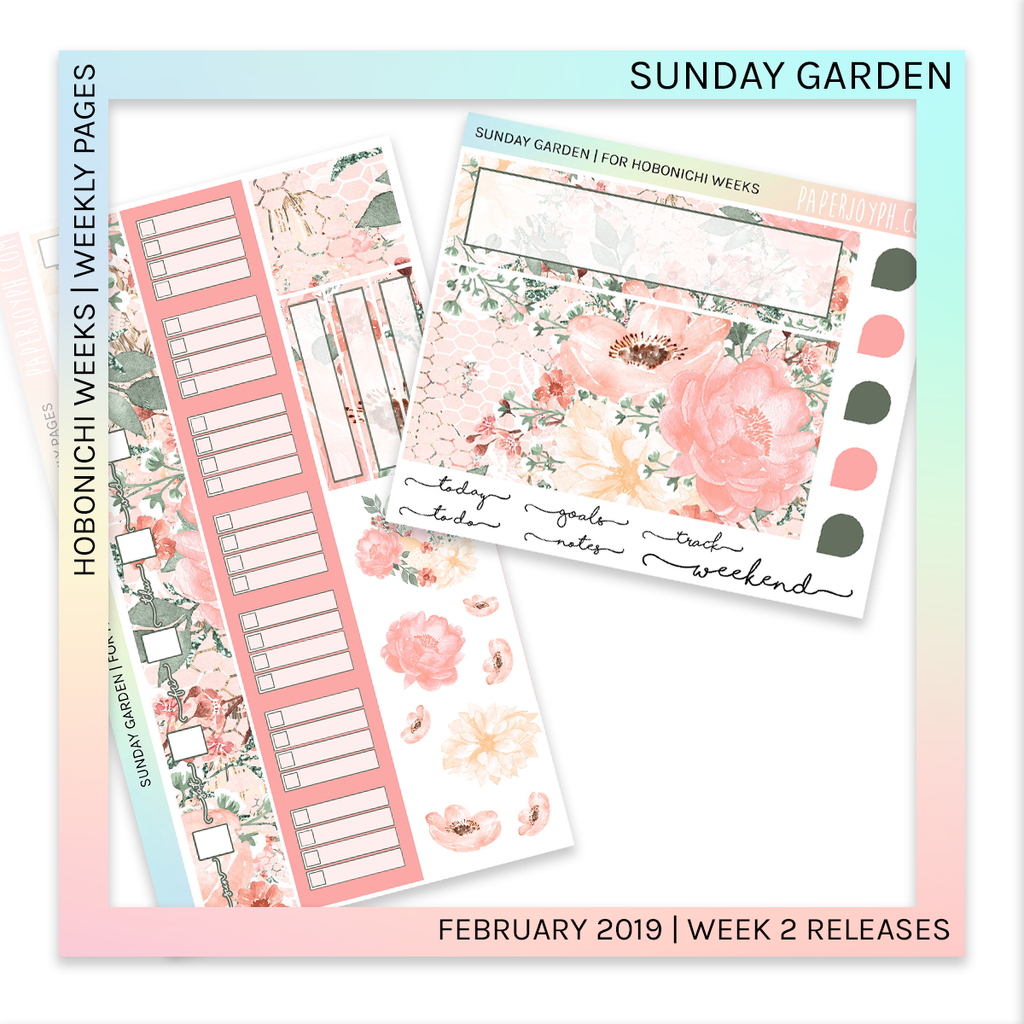 HOBONICHI WEEKS | WEEKLY PAGES | Sunday Garden