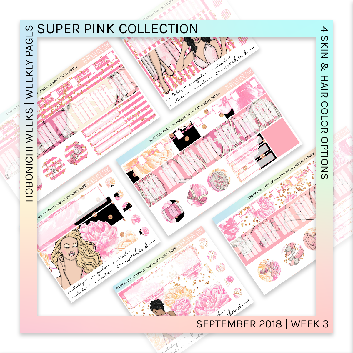 HOBONICHI WEEKS | WEEKLY PAGES | Pink Supreme