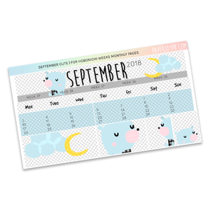 HOBONICHI WEEKS | MONTHLY PAGES | September Cute