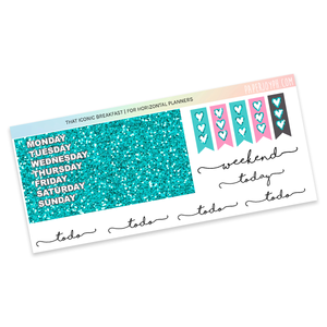 HORIZONTAL PLANNER STICKER KIT | That Iconic Breakfast