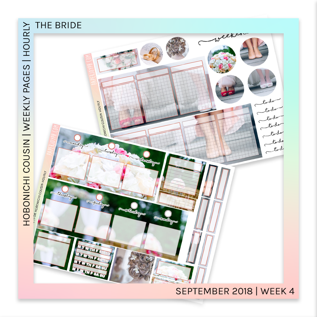 HOBONICHI COUSIN | HOURLY STICKER KIT | The Bride