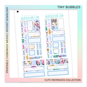 PRINTABLE | HOBONICHI WEEKS | Tiny Bubbles