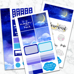 Personal Planner Horizontal Sticker Kit | TO THE MOON
