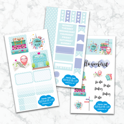Personal Planner Horizontal Sticker Kit | TRAVEL TIME