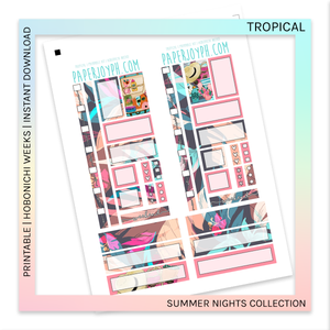 PRINTABLE | HOBONICHI WEEKS | Tropical