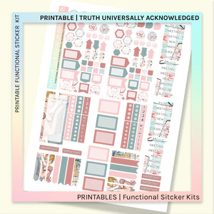 PRINTABLE | FUNCTIONAL STICKER KITS | Truth Universally Acknowledged