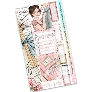 VERTICAL PLANNER STICKER KIT | Truth Universally Acknowledged