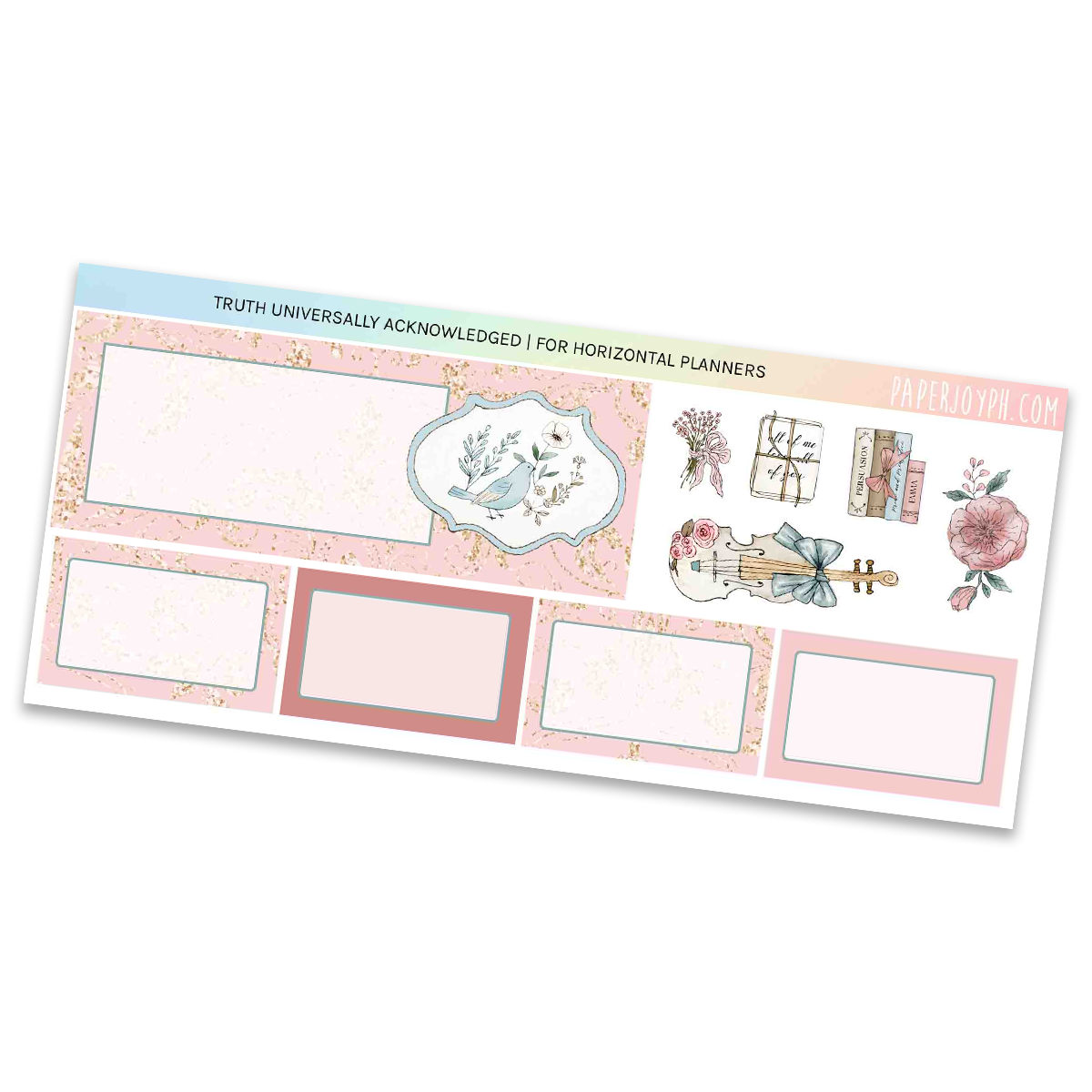 HORIZONTAL PLANNER STICKER KIT | Truth Universally Acknowledged