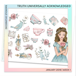 DECORATIVE SHEET | Truth Universally Acknowledged