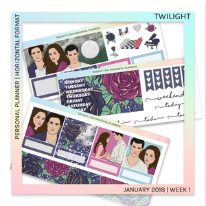 HORIZONTAL PLANNER STICKER KIT | Twilight