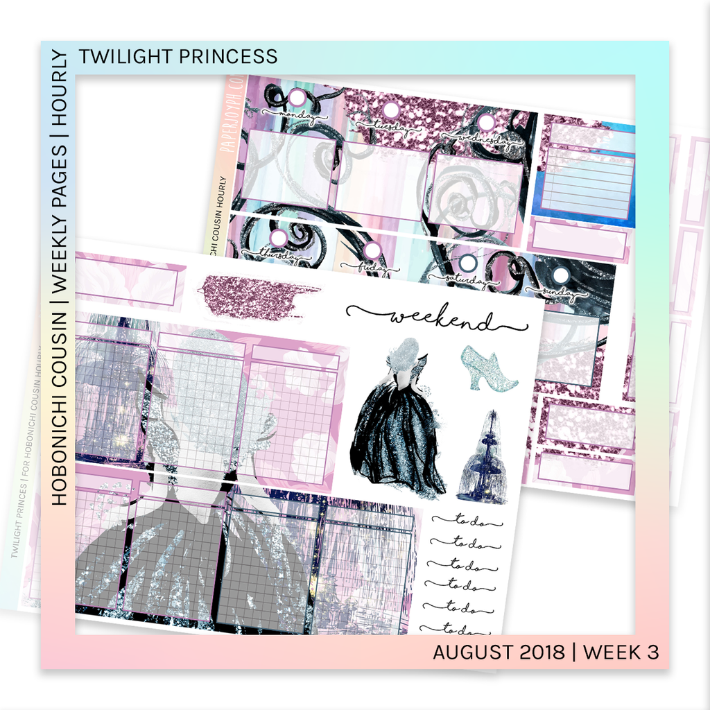 HOBONICHI COUSIN | HOURLY STICKER KIT | Twilight Princess