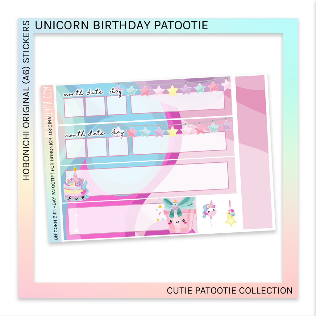 HOBONICHI ORIGINAL (A6) | Unicorn Birthday Patootie