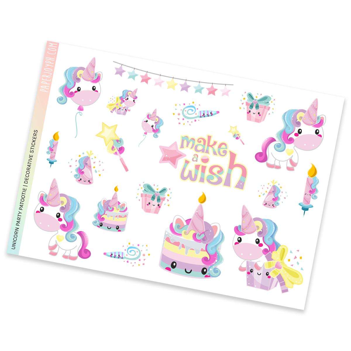 DECORATIVE SHEET | UNICORN PARTY PATOOTIE