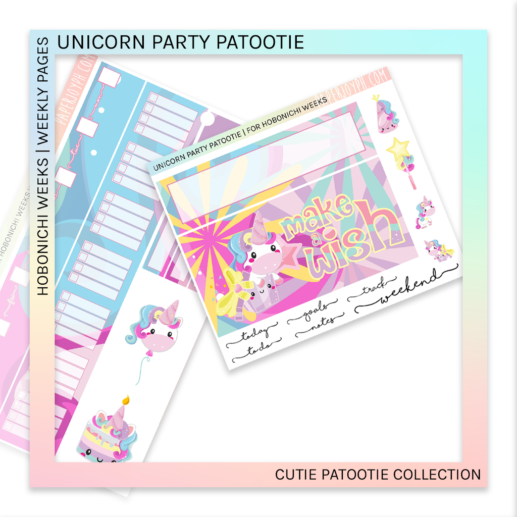 HOBONICHI WEEKS | WEEKLY PAGES | Unicorn Party Patootie