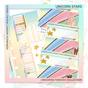 HOBONICHI WEEKS | WEEKLY PAGES | Unicorn Stars