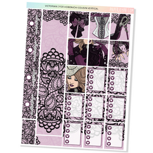 HOBONICHI COUSIN | VERTICAL STICKER KIT | VICTORIAN