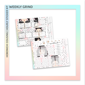 HOBONICHI COUSIN | HOURLY STICKER KIT | Weekly Grind
