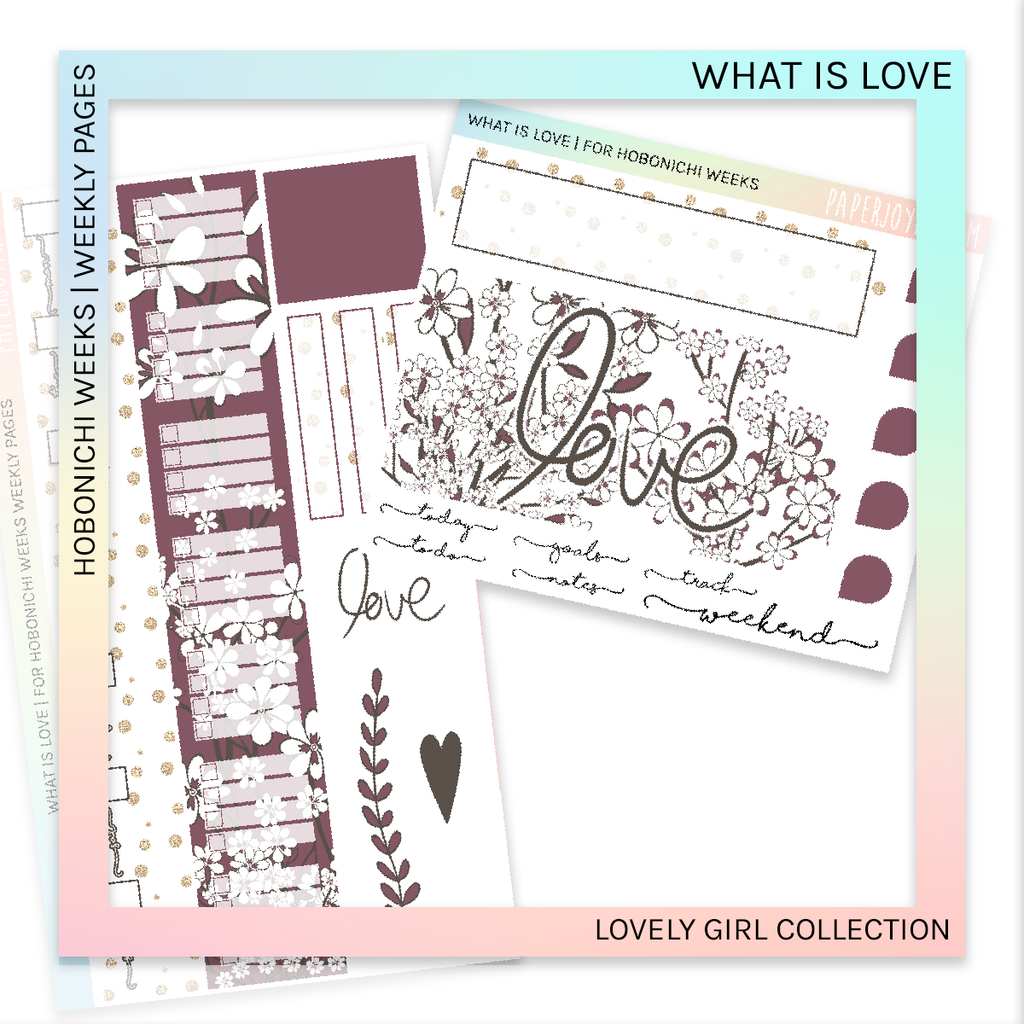 HOBONICHI WEEKS | WEEKLY PAGES | What is Love