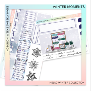 HOBONICHI WEEKS | WEEKLY PAGES | Winter Moments