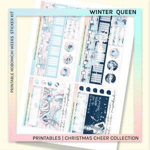 PRINTABLES | HOBONICHI WEEKS | Winter Queen Set