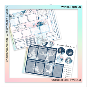 HOBONICHI COUSIN | HOURLY STICKER KIT | Winter Queen