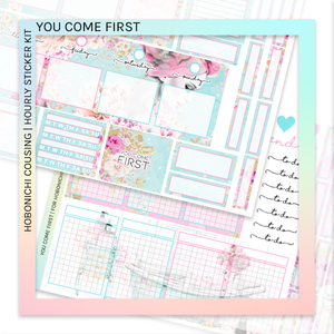 HOBONICHI COUSIN | HOURLY STICKER KIT | You Come First