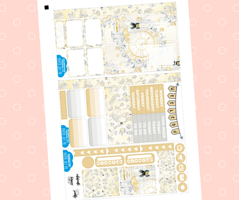 PRINTABLE for Personal Planner | VERTICAL LAYOUT | CELEBRATIONS