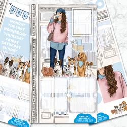 Personal Planner Vertical Sticker Kit | Chillin
