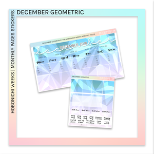 HOBONICHI WEEKS | MONTHLY PAGES | December Geometric