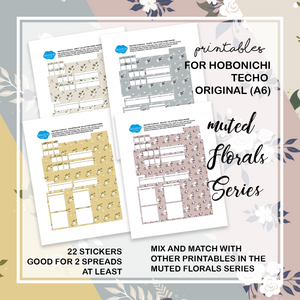 FREE PRINTABLES | Hobonichi Original (A6) | Muted Florals Series